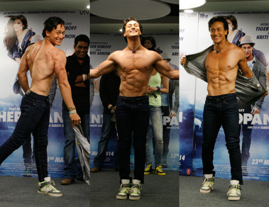 Shirtless bollywood men tiger shroff male models picture for Tiger shroff tattoo