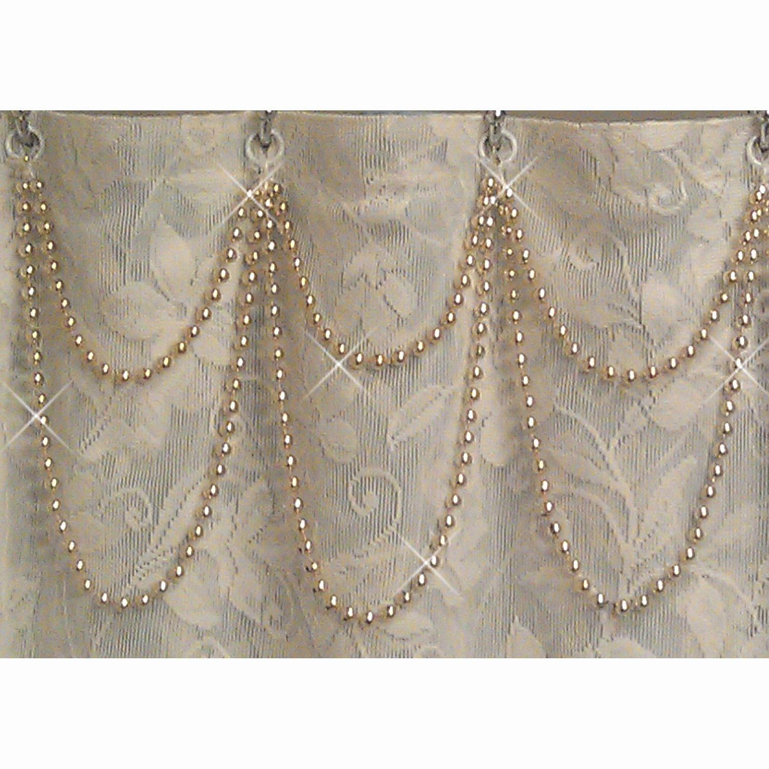 Shower Curtain Bling Gold Pearl