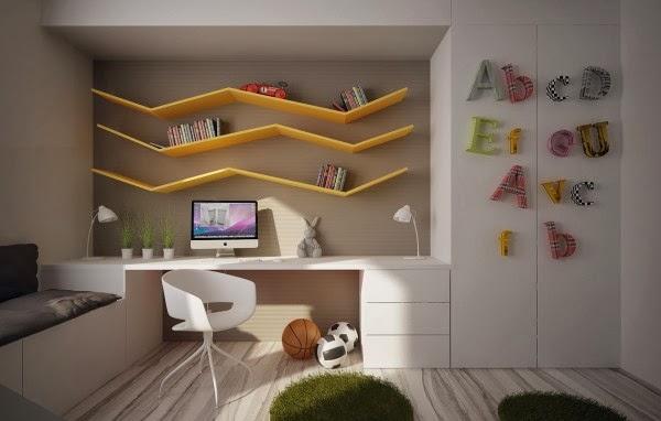 12 Enfants chambres avec cool construit-dans
