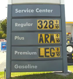 You reckon Americans will eventually sell their souls for a gallon of gas?