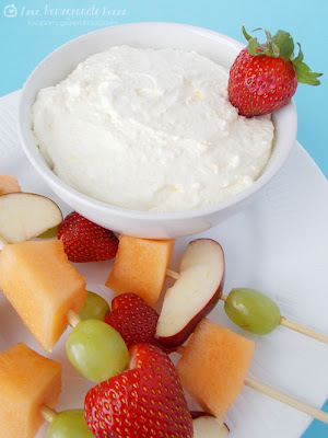 Creamy Vanilla Fruit Dip & Fruit Kabobs from Love Pomegranate House