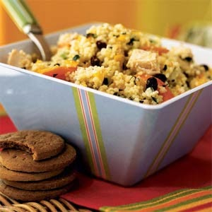 Couscous Salad with Chicken and Chopped Vegetables Recipe Recipe