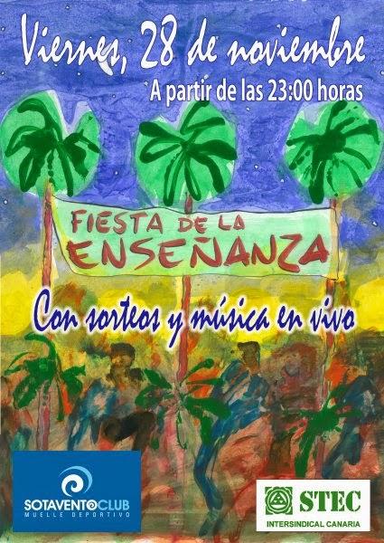 Fiesta de la Enseñanza Canarias, 28 noviembre Gran Canaria