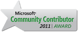 Microsoft Community Contributor Award!