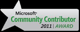 Microsoft Community Contributor Award!
