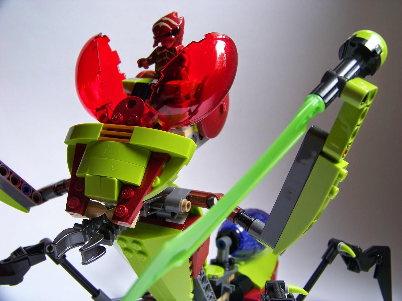 LEGO red Buggoid alien