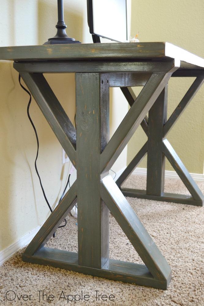DIY Wood Desk, Over The Apple Tree