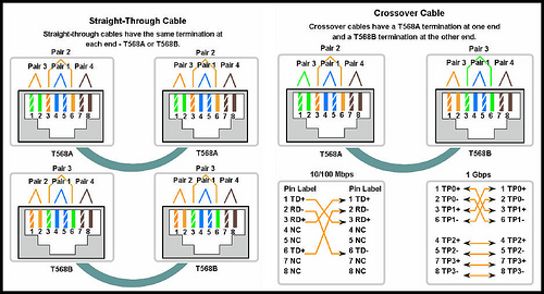 Straight Thru cable and Cross-over cable configurations ~ Articles World