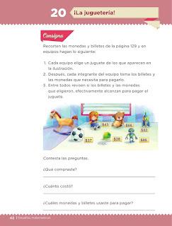 Apoyo Primaria Desafíos matemáticos 1er grado Bimestre 2 lección 20 ¡La juguetería!