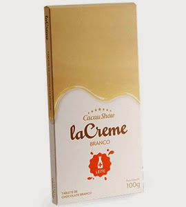 Cacau Show tablete lacreme chocolate branco