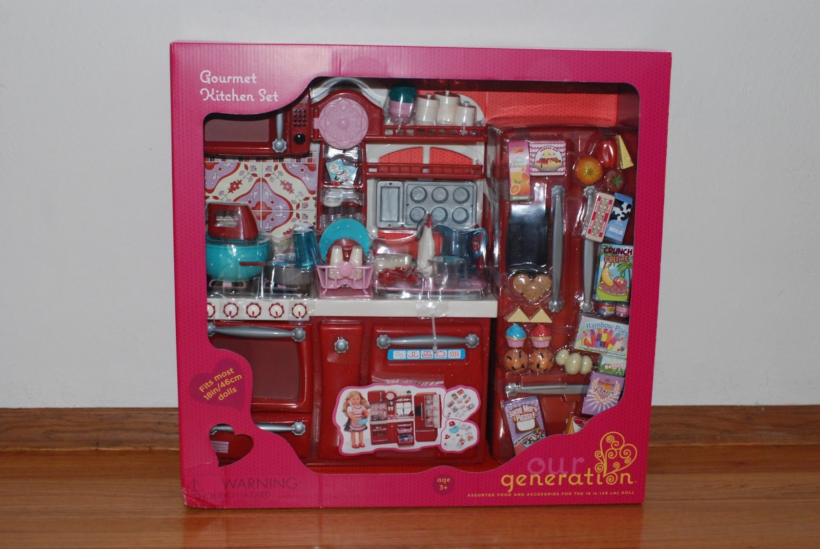 Darling dolls our generation kitchen for Doll kitchen set