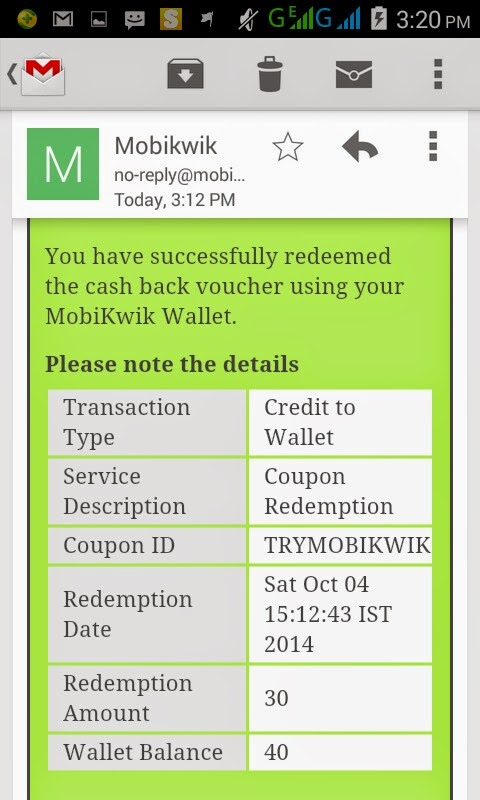 Mobikwik 300% Cashback offer : Add Rs 10 and get Rs 30 cashback from Mobikwik