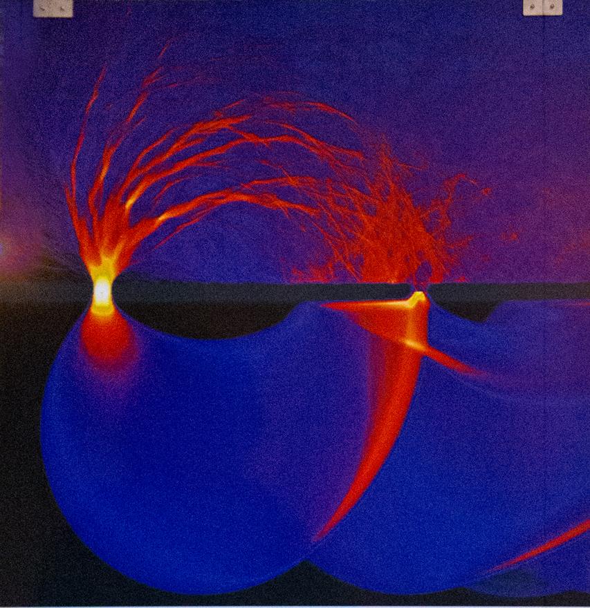 Electrones balísticos, foto de Ragnar Frischmann, del Instituto Max Planck para la Dinámica y la Auto-organización, Göttinger, Alemania.