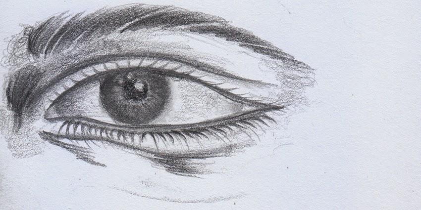 Cara Mudah Menggambar Mata (Drawing Pencil)