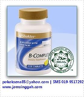 B complex Shaklee - Complete 8 vitamin – B1, B2, B3, B5, B6, B12, acid folic dan biotin