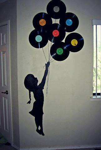 Perfeita garota inspira o disco de vinil - Decoracion con discos de vinilo ...