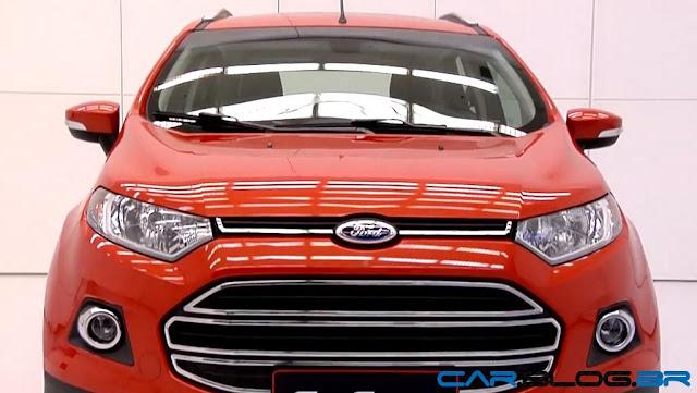 Novo Ford EcoSport 2013 - grade dianteira