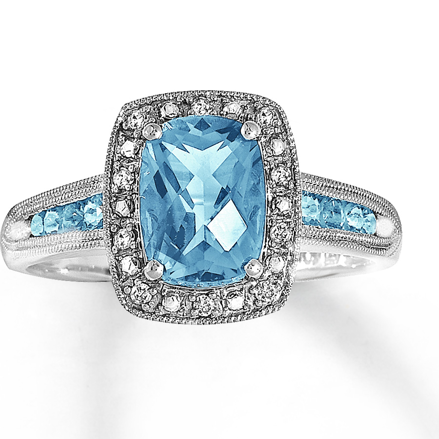 Style your Ownaquamarine and diamond engagement rings