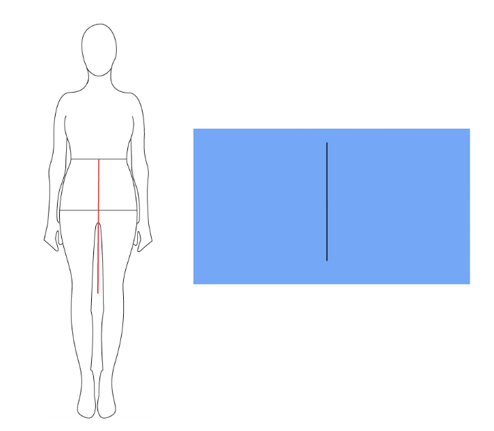 Drawing Vertical Lines In Html : The awl nighter pattern drafting basic skirt block