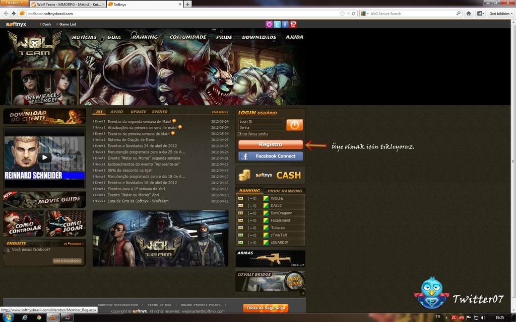 Wolfteam Brazilya Üye Ol Wolfteam Br Serverine Kayıt Olma Yeni