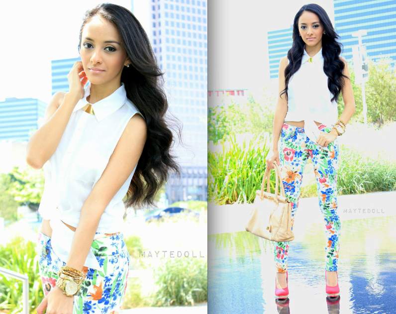 Flower Printed Jeans Floral Print Jeans Part 3 And