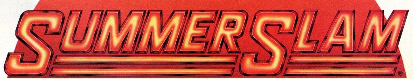 Poster correspondiente a la edición de Summer Slam correspondiente al año 1988