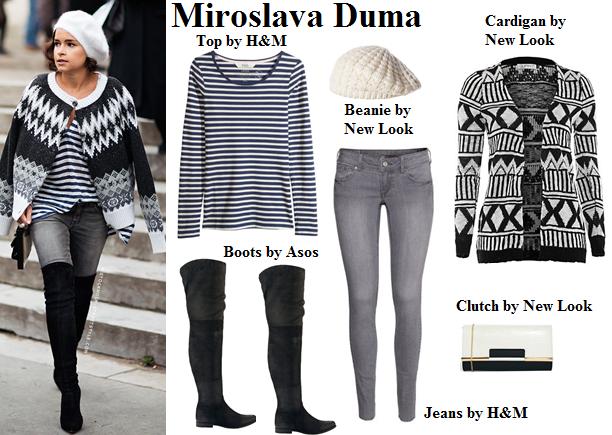 miroslava duma, fashion, style, winter, beanie