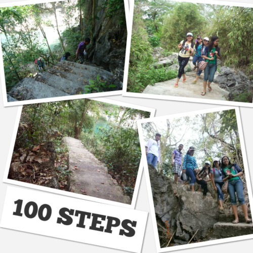 100 steps at Minalungao Cave
