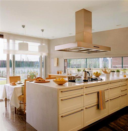 Cocinas gourmet en blanco white gourmet kitchens - El mueble cocinas ...