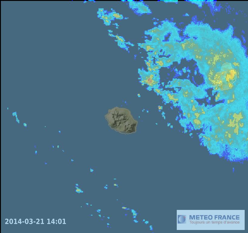 Image radar météo réunion, Maurice, Madagascar