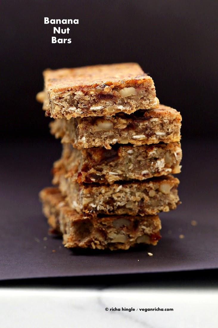 Banana Nut Snack Bars. Vegan Glutenfree Recipe - Vegan Richa
