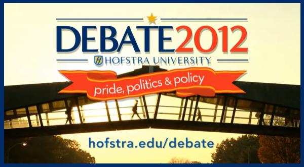 Hofstra University Presidential Debate Logo 10-16-2012