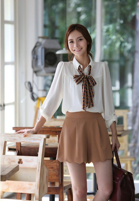 korean women career in simple style dresses fashion trends