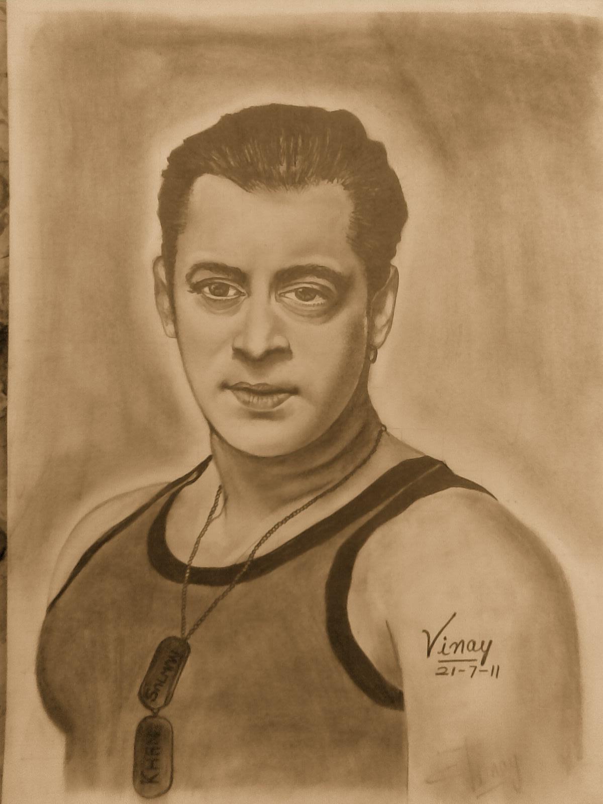 Salman Khan Sketch Wallpaper Pencil Sketch of Salman Khan