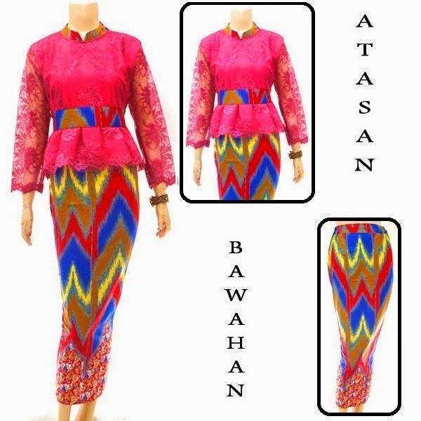 Kebaya Brokat Batik Rang Rang