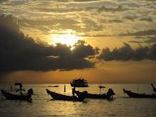 Solnedgång på Koh Tao Thailand -12
