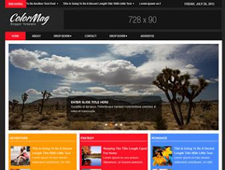 ColorMag - New SEO Responsive Blogger Template