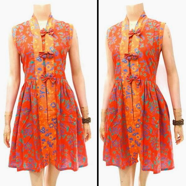 Dress Batik Motif Bunga