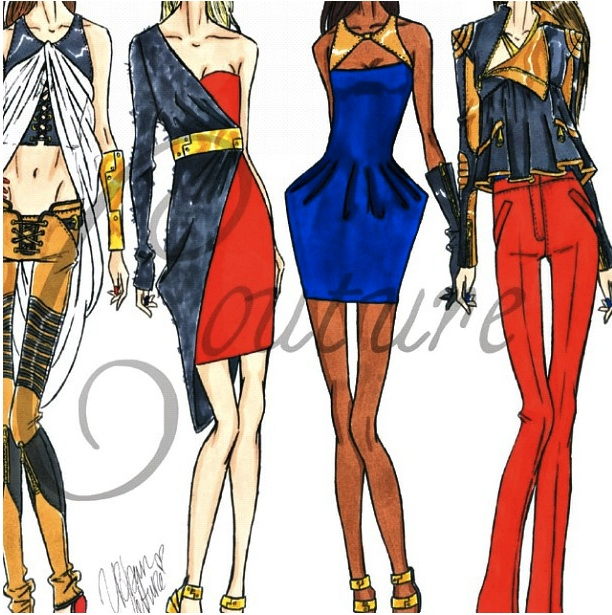 jerron couture urban fashion fashion illustration fashion designers