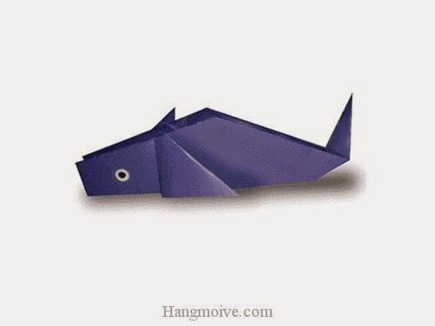 Cách gấp, xếp con cá heo bằng giấy origami - Video hướng dẫn xếp hình sinh vật dưới nước - How to fold a Dolphin