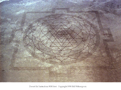 Desert Sri Yantra from 9000 Feet