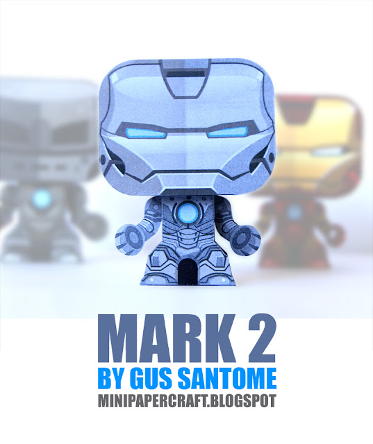 Iron Man Mini Mark 2 3 Armor Paper Toy