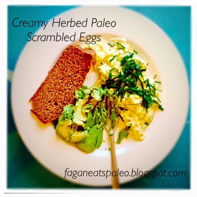 Creamy Herbed Paleo Scrambled Eggs