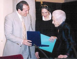 Riccardo Proietti e Rita Levi Montalcini