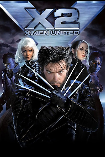 Poster of X-Men 2 United 2003 Hindi 720p BRRip Dual Audio Full Movie Download