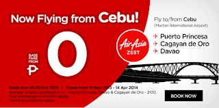 AirAsia Zest starts flying Cebu-CDO on November 15, 2013