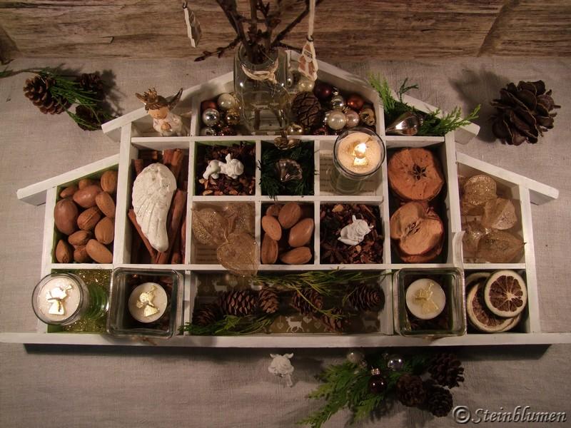Setzkasten dekorieren Weihnachten