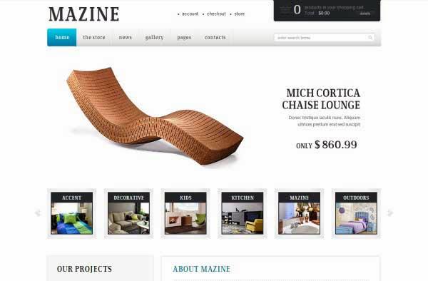 Mazine Wordpress Theme - A WP E-Commerce theme