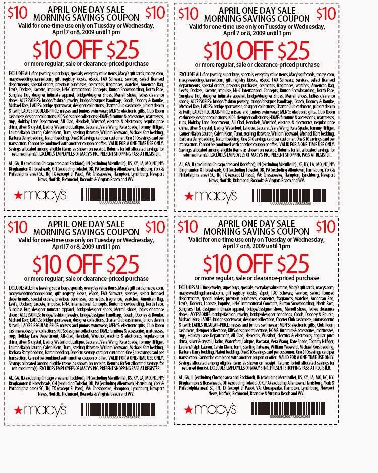 Macy printable coupons 10 off 25