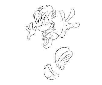 #1 Rayman Coloring Page
